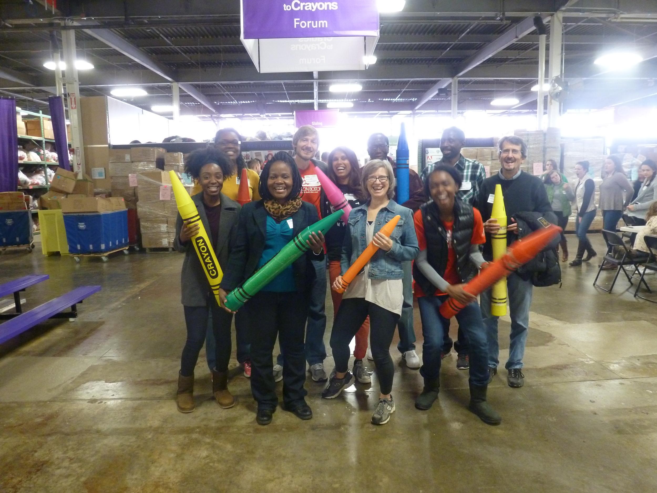 Volunteers at Cradles to Crayons.