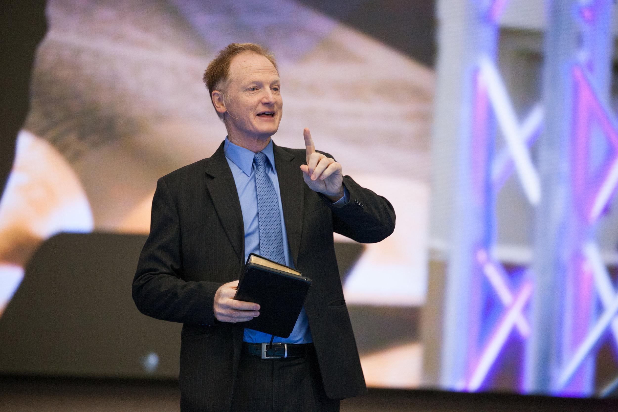 IIW Speaker/Director John Bradshaw preaches at the Reggie Lewis Center. Photo  by Joel Stapleton.