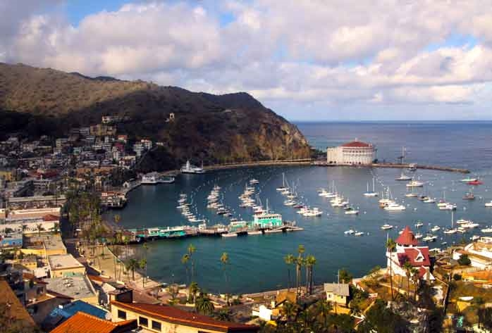 The picturesque harbor in Avalon, Catalina Island   © Joanne DiBona