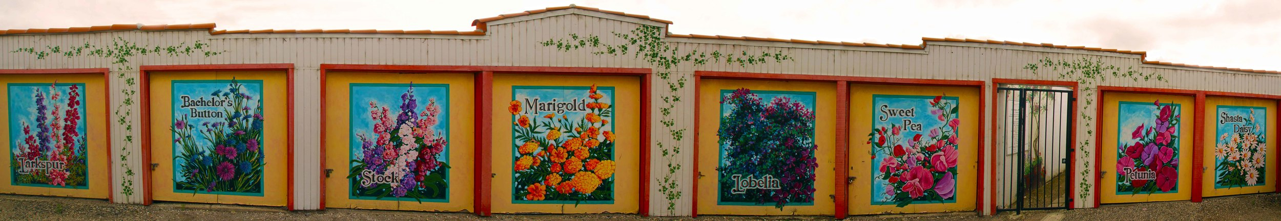 Colorful murals such as this can be found throughout the charming town of Lompoc.