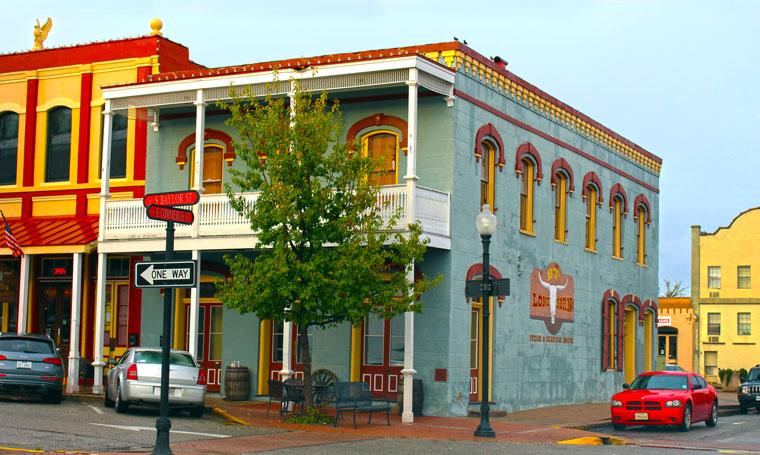 Brenham's Colorful Historic Downtown, © Tony DiBona