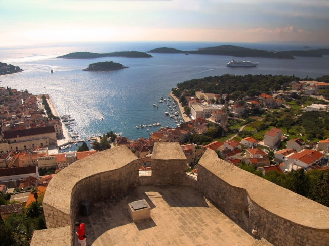 View from the Fortress on the Croatian Island of Hvar  © Joanne DiBona
