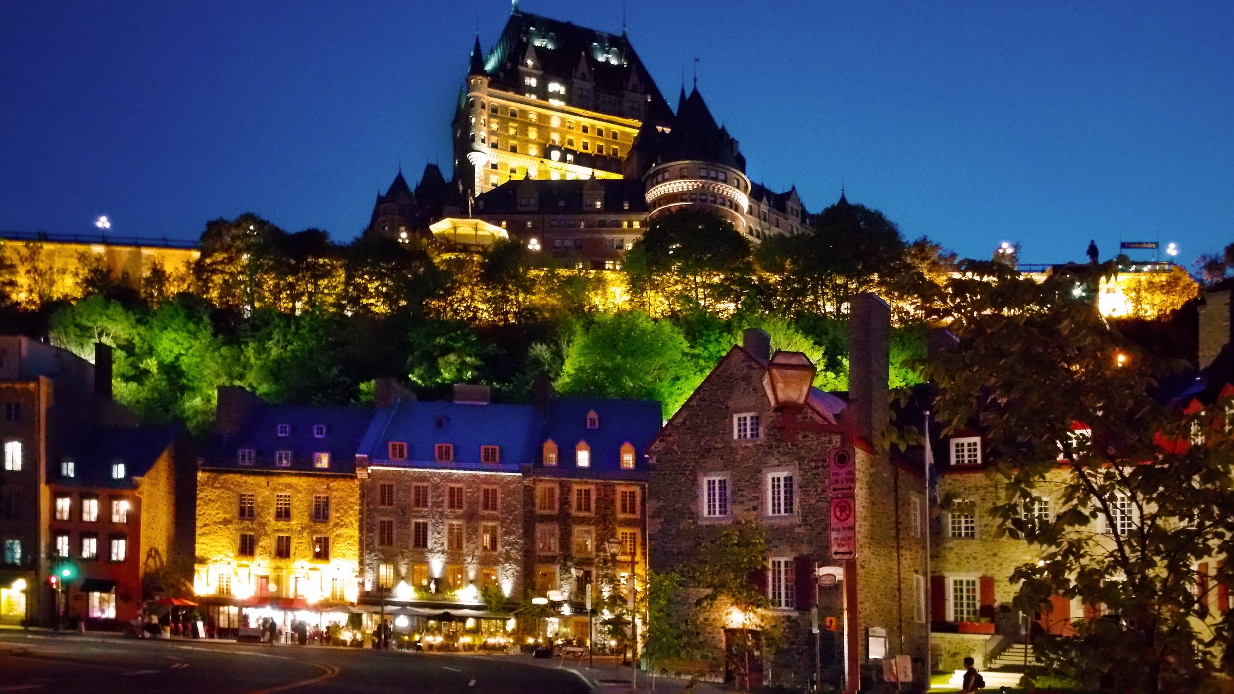 View on the FAIRMONT LE CHÂTEAU FRONTENAC from Lower Old Town, Quebec © Joanne DiBona Photography