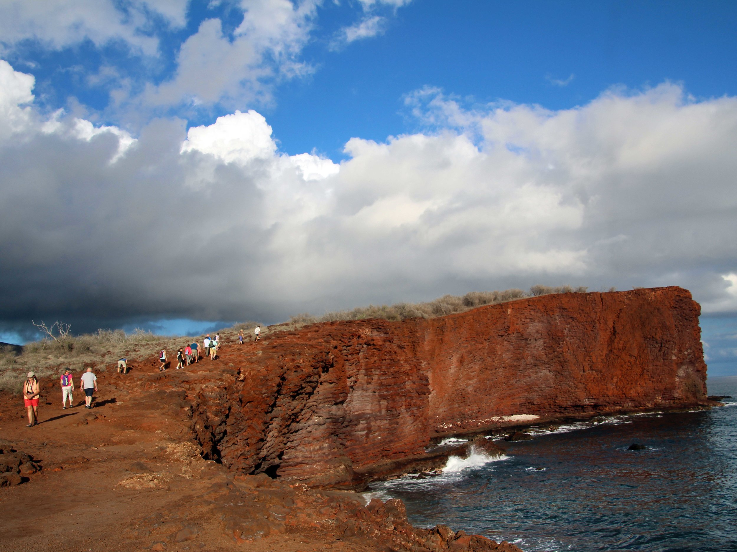 Hiking the cliffs of Manele Bay, Lanai Hawaii © Joanne DiBona Photography