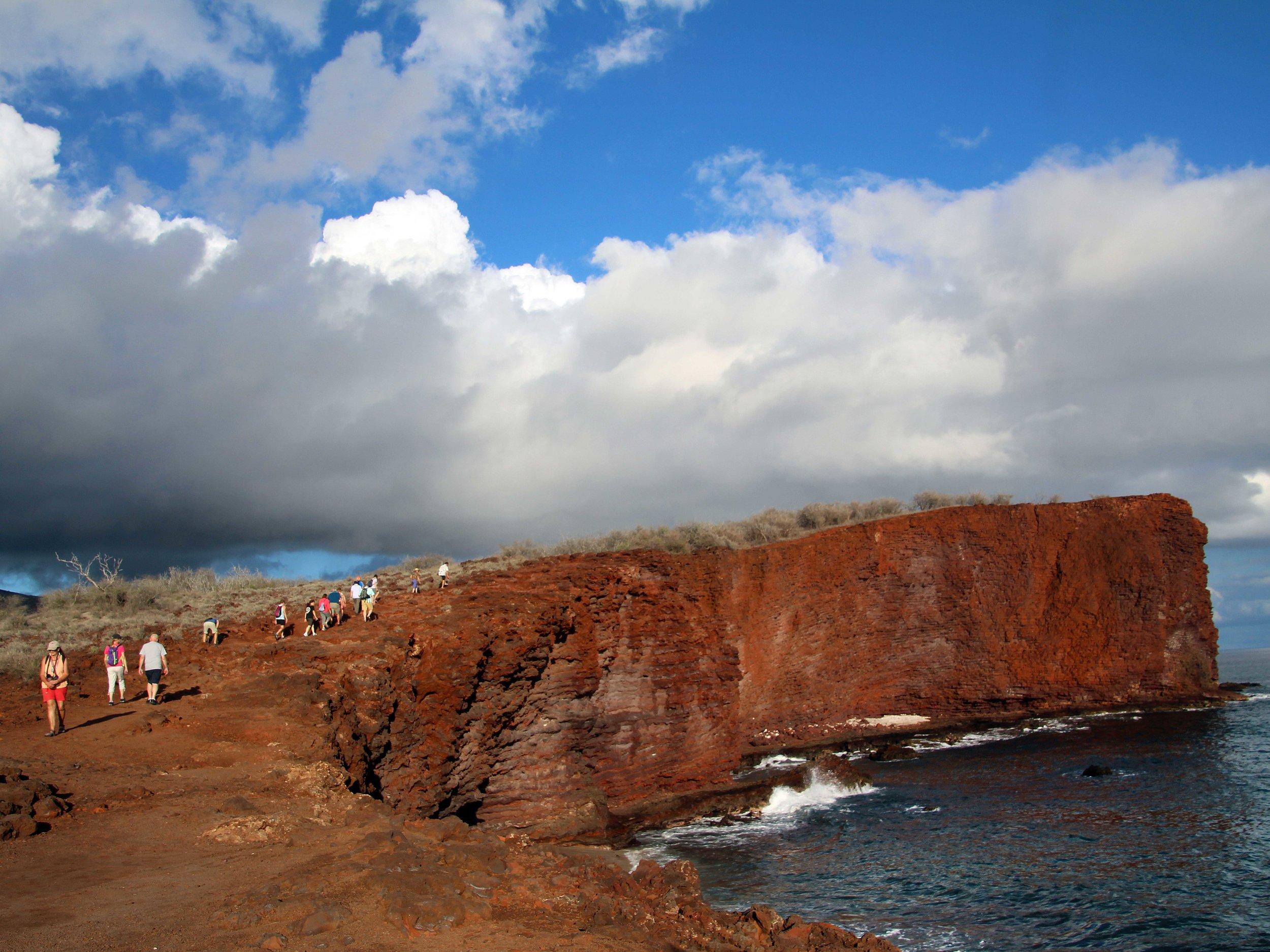 Hiking the cliffs of Manele Bay, Lanai Hawaii © Joanne DiBona Photography