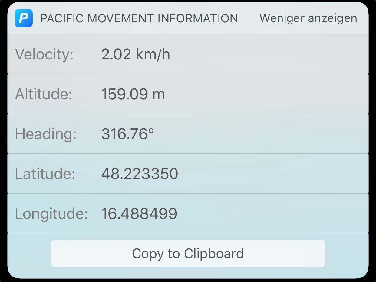 Movement Widget - iOS 10