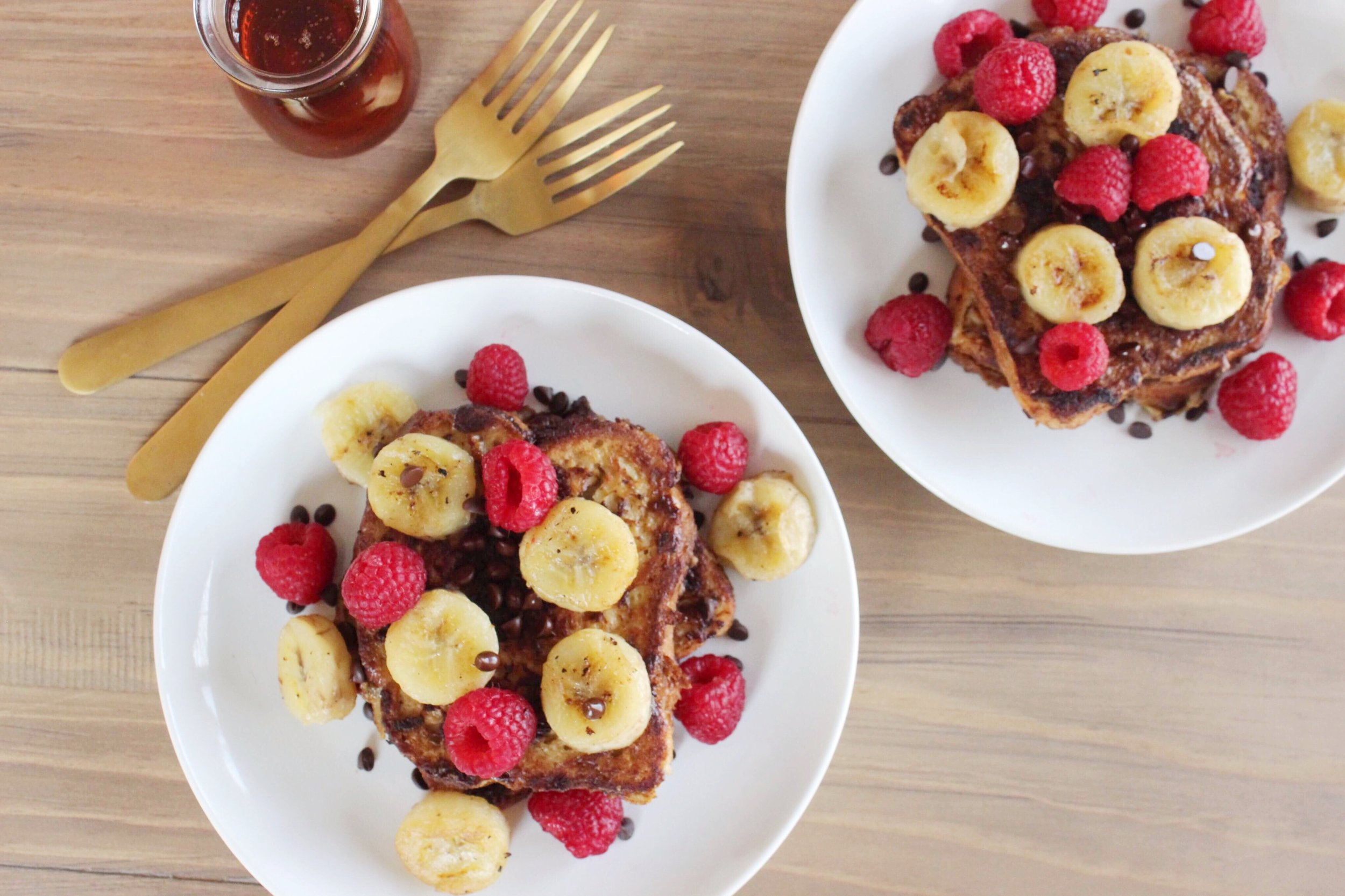 two-chocolate-french-toasts-plates