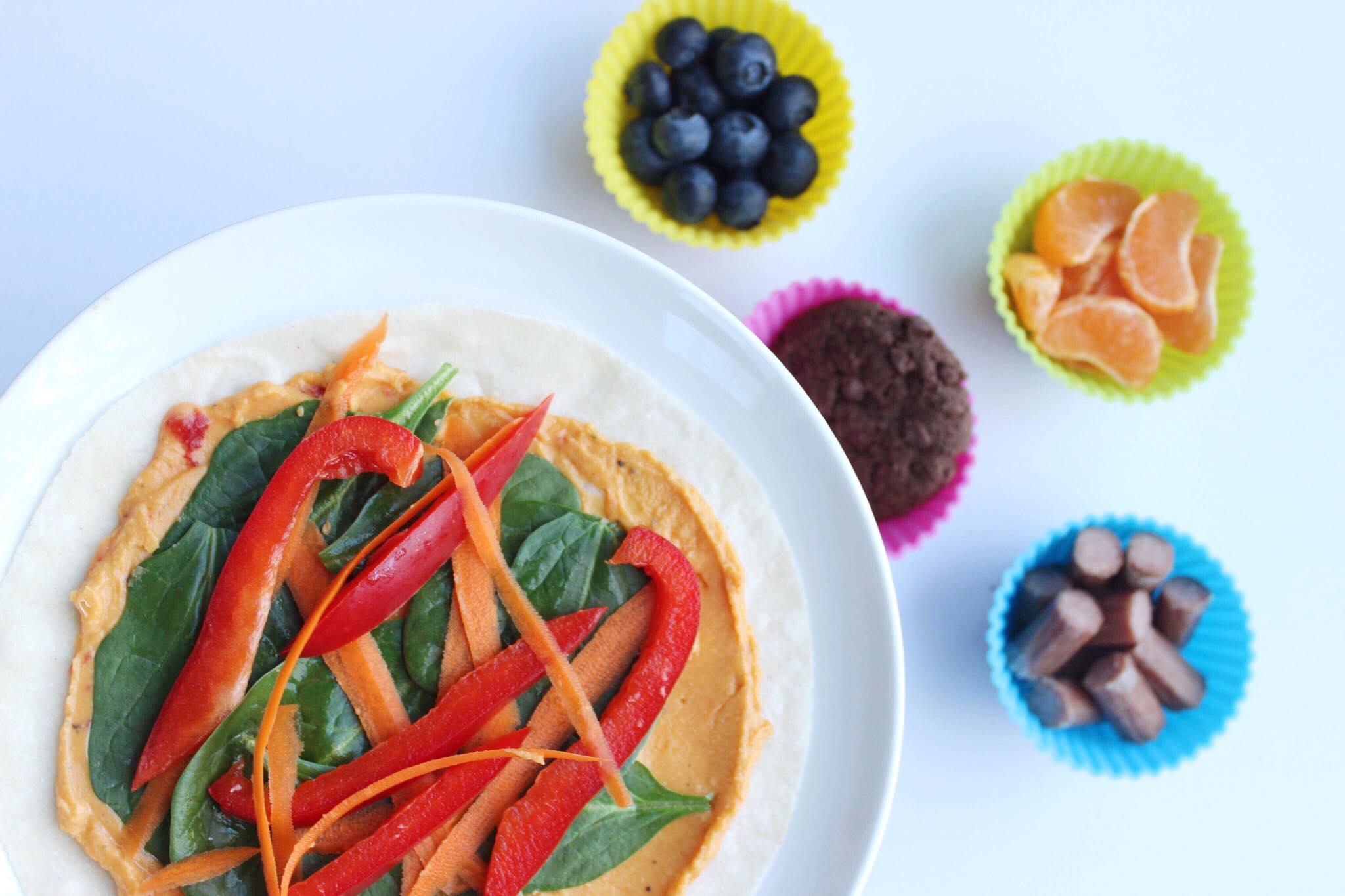 healthy veggie wrap for kids