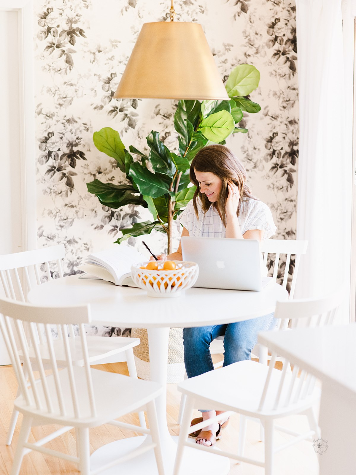 meal planning at kitchen table