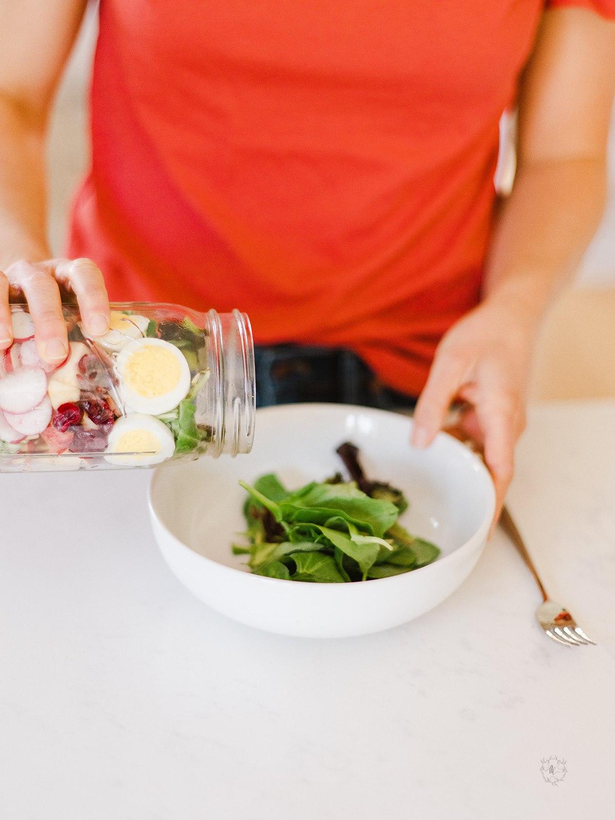 meal prep mason jar salad