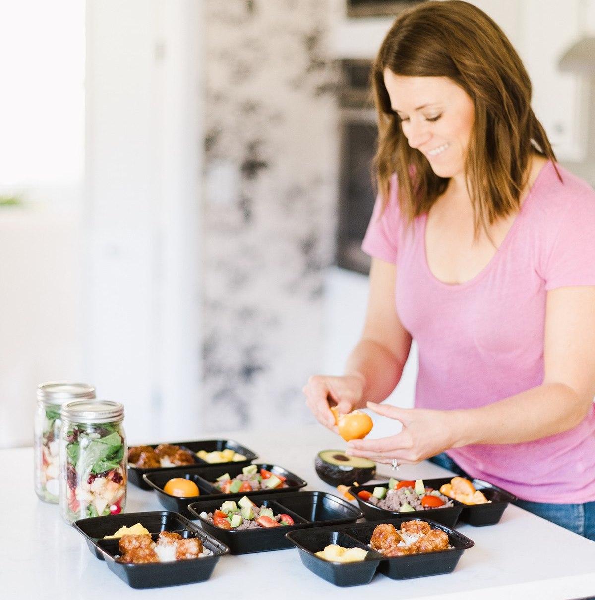 preparing meals in kitchen