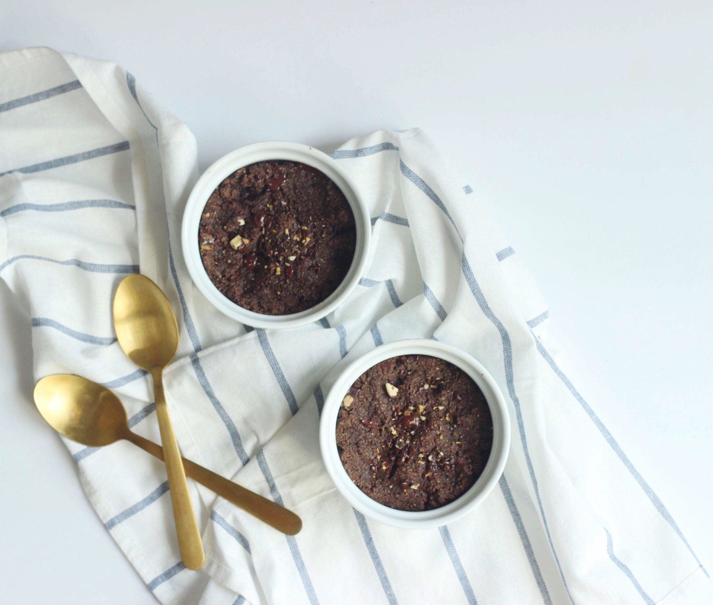 healthy gooey brownies for two