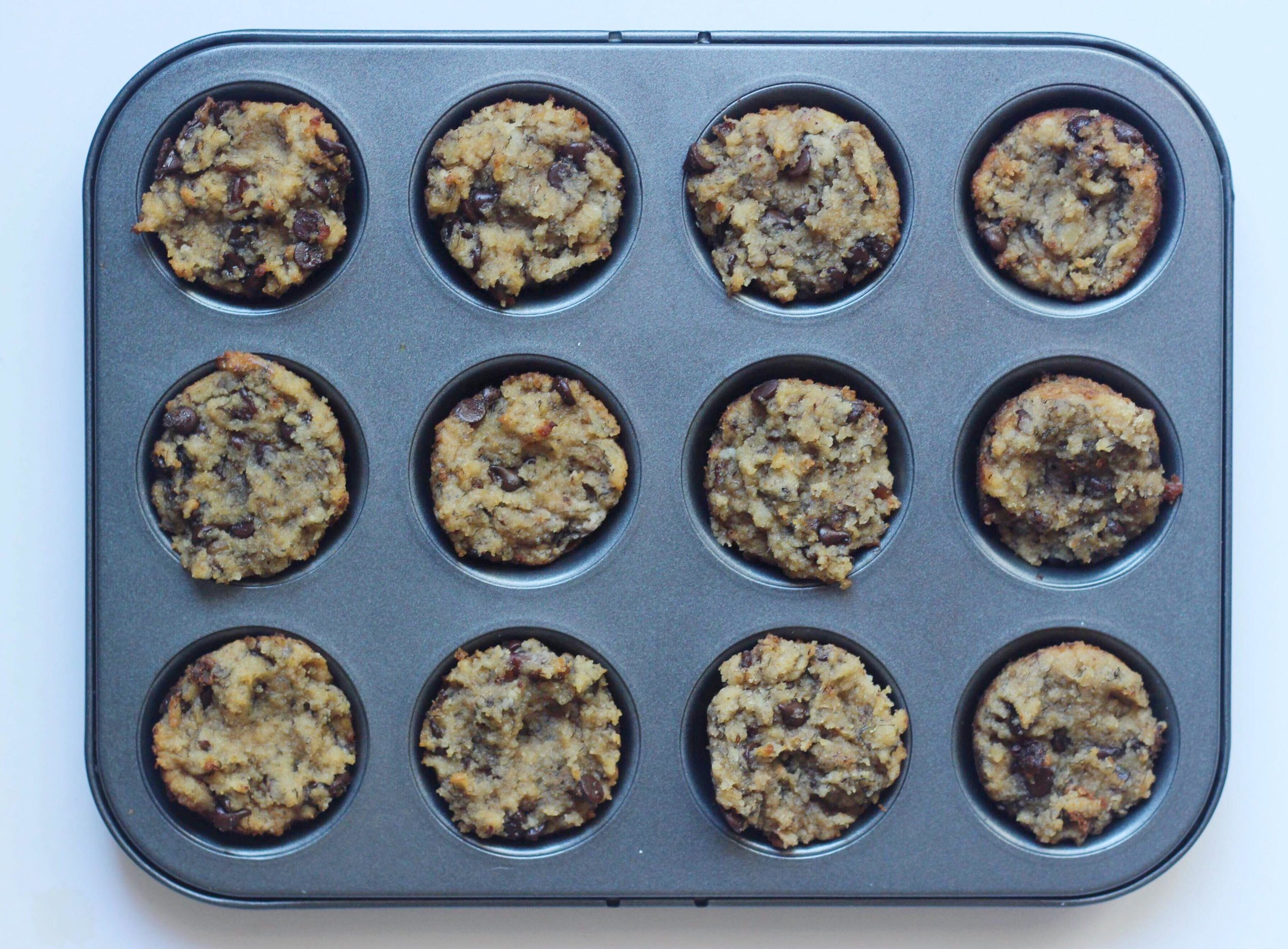 clean banana bread muffins