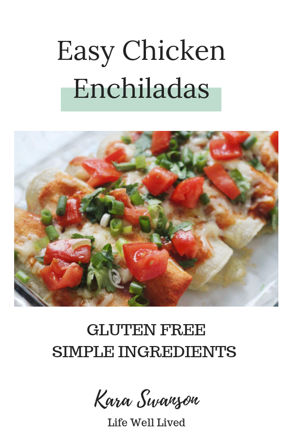 easy and healthy chicken enchiladas