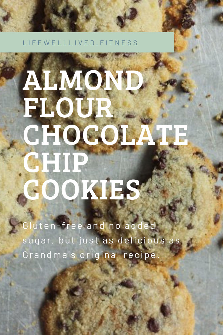 Gluten-Free and no added sugar almond flour chocolate chip cookies