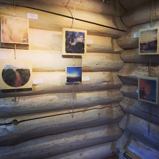 Our work is being shown at the Johnson Heritage Post in Grand Marais, MN from June 23-July 16. If you are in the area go and check it out! • • • PC: Cindy T.  #johnsonheritagepost #etsyshop #etsy #encaustic #grandmarais #landscape #greatlakes