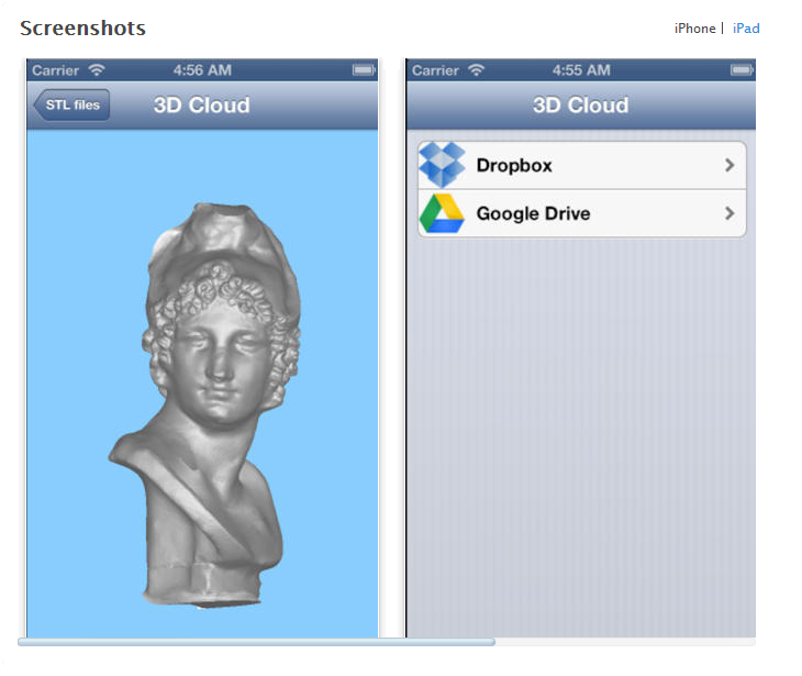 3D cloud app. Source: 3D Cloud App