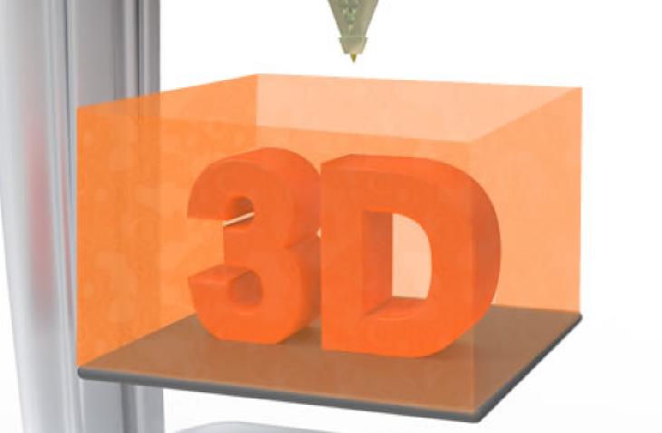 3D printer build envelope.