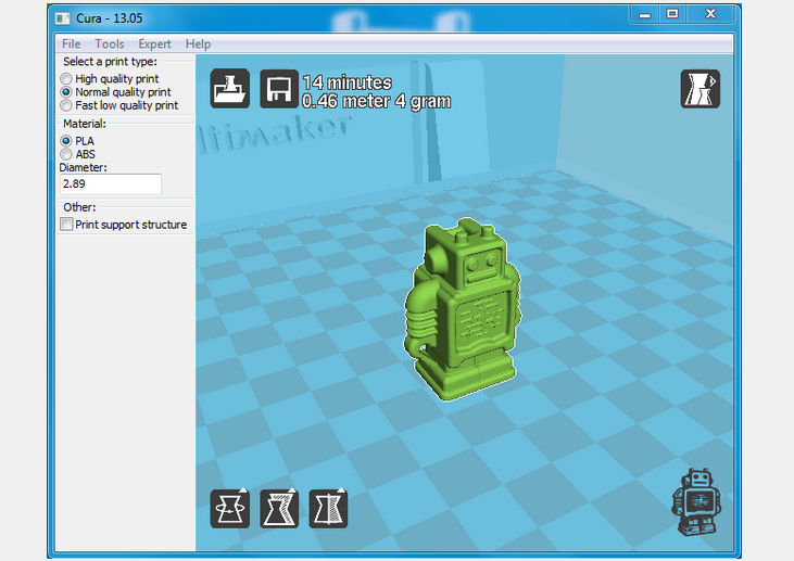Cura Software. Source: blog.ultimaker.com