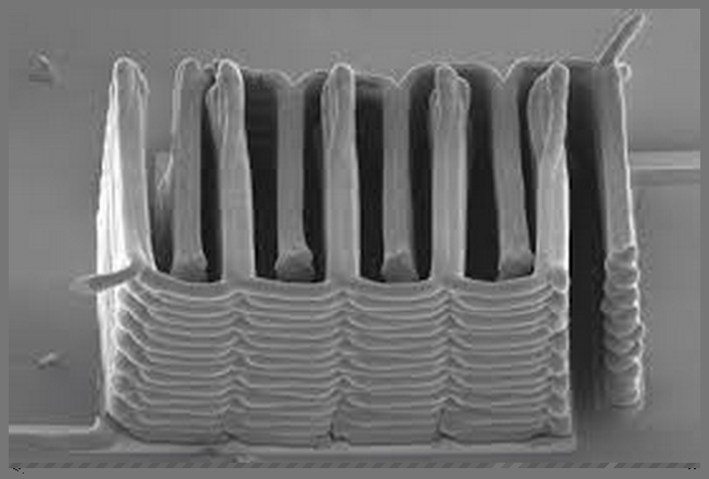 Microscopic view of a micro battery