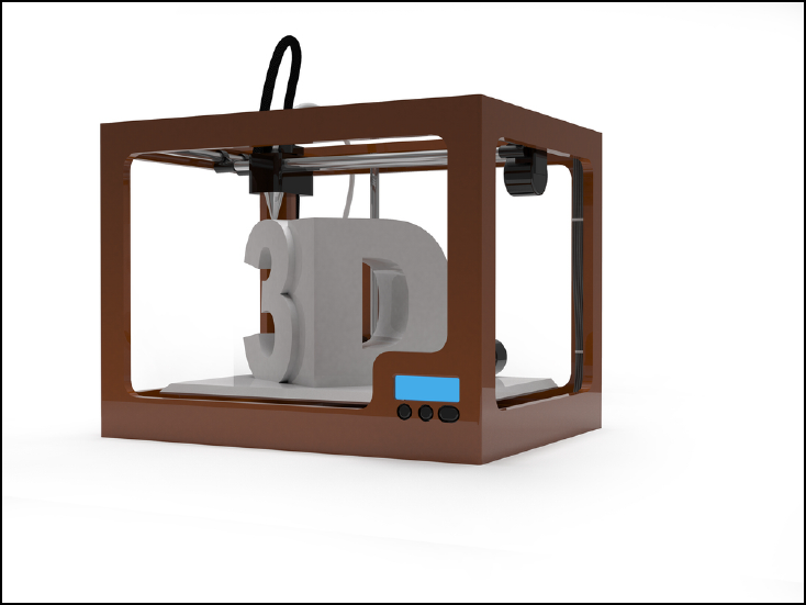 3D printer illustration. Source: Shutterstock.com