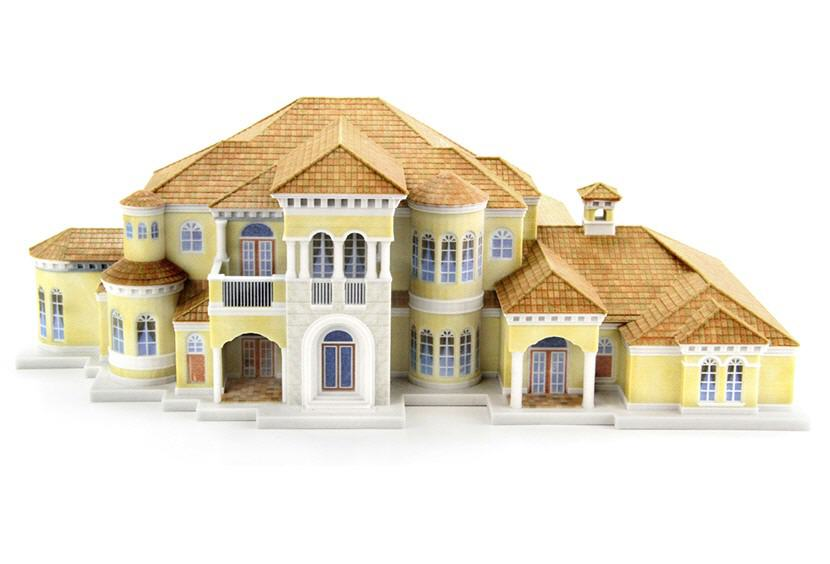 Architectural Model. Spanish Style. Source: WhiteClouds