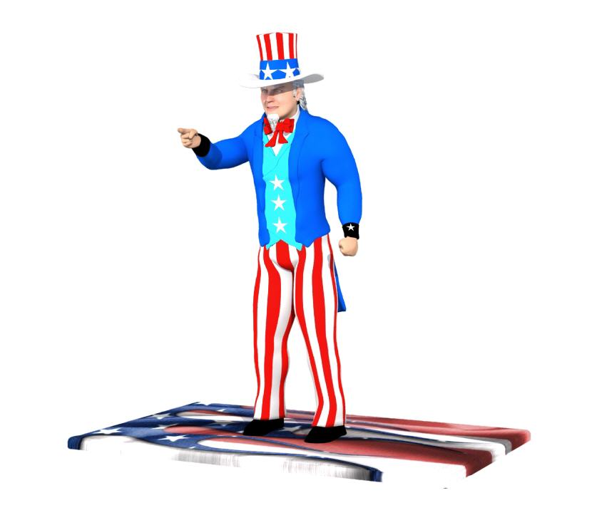 3D Printed Uncle Sam Figurine. Source: WhiteClouds