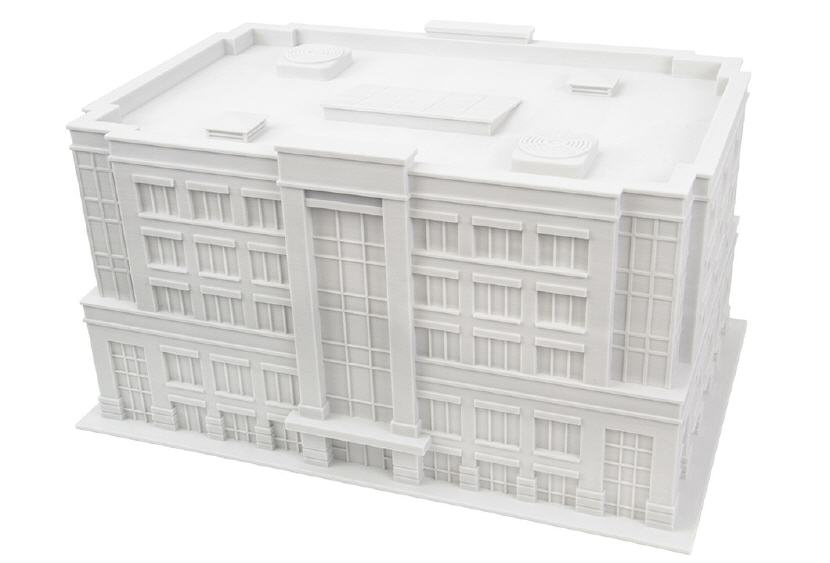 3D printed office building model. Source: WhiteClouds