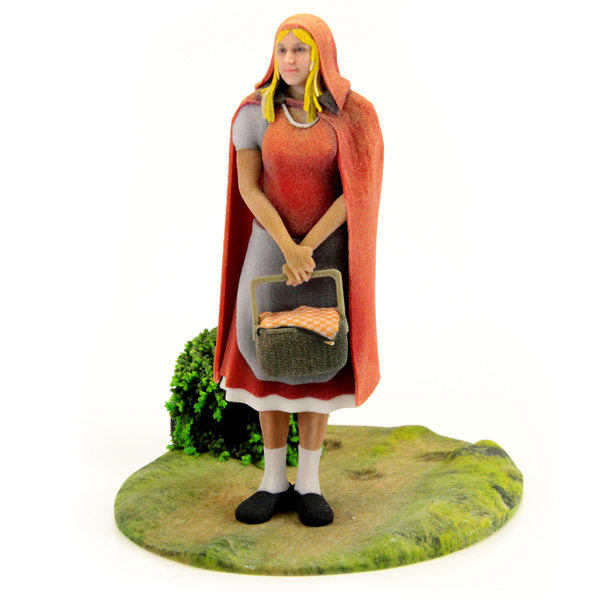 3D printed Little Red Riding Hood. Source: WhiteClouds