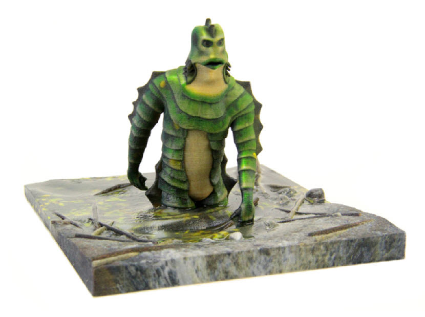 3D-Printed Figurine of The Creature from the Black Lagoon. Source: WhiteClouds