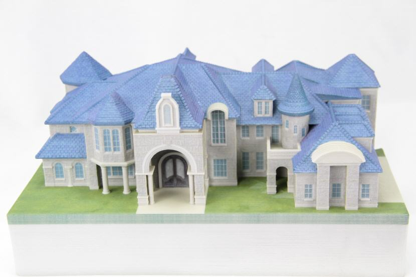 3D printed architectural home fine scale model. Source: WhiteClouds