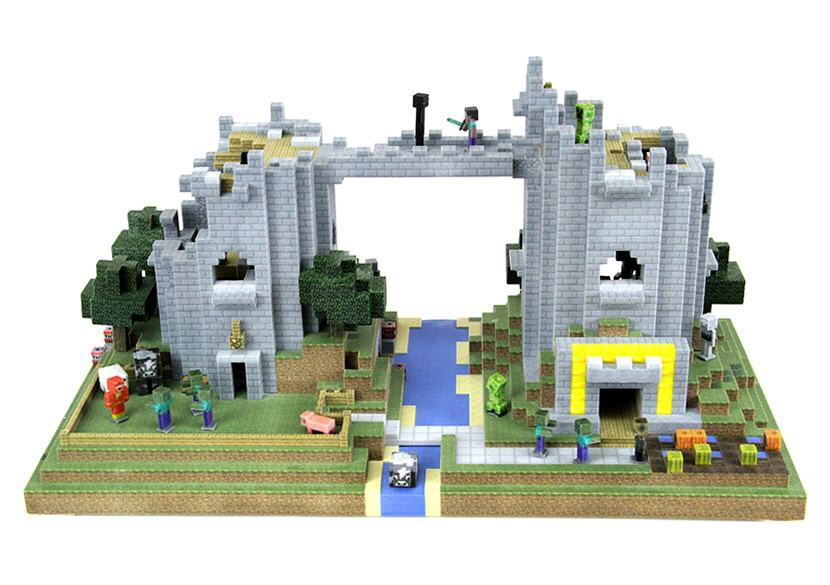 3D printed Minecraft building. Source: WhiteClouds