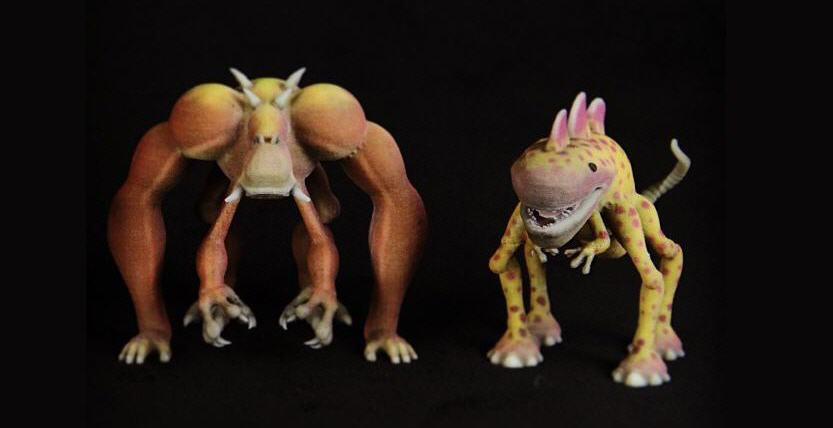 3D printed Spore creature. Source: WhiteClouds