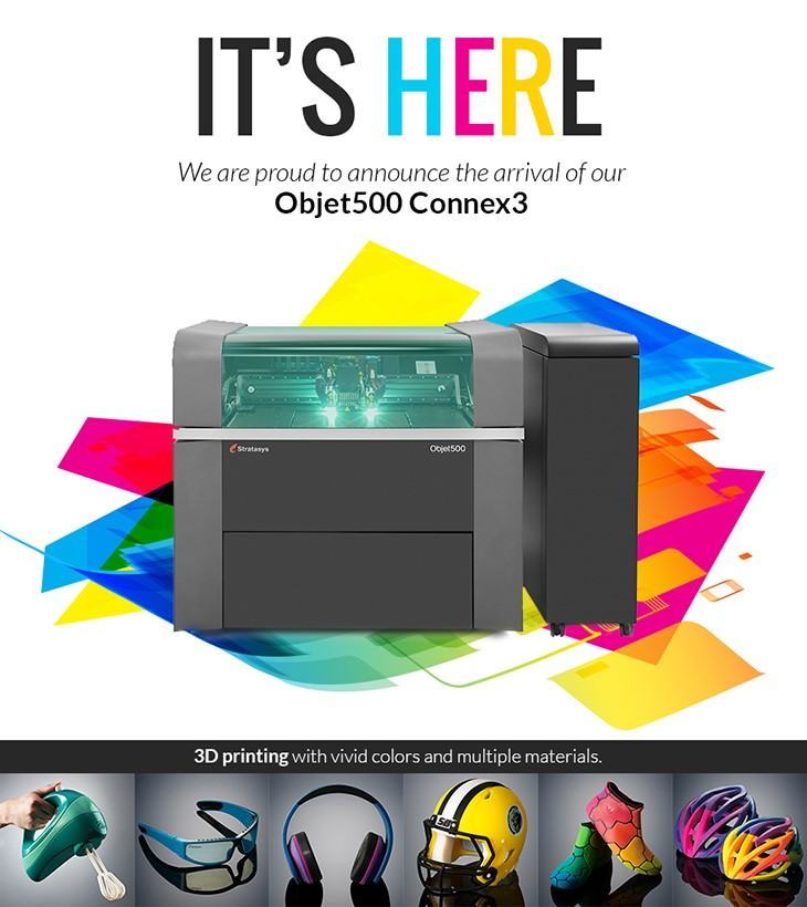 Objet500 Connex3 by Stratasys. Source: WhiteClouds