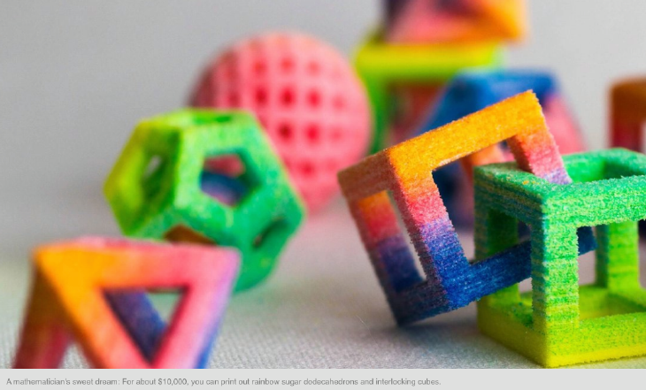 ChefJet 3D printed full-color candy. Source: 3D Systems