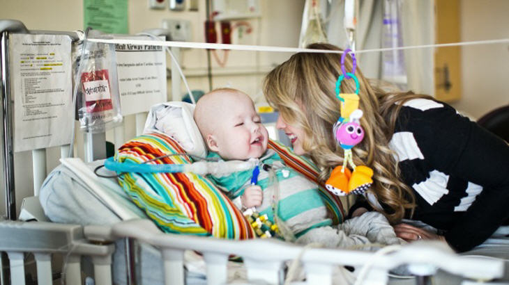 Garrett Peterson and his mother, Natalie Peterson. Source: Nicole Haley/University of Michigan Health System