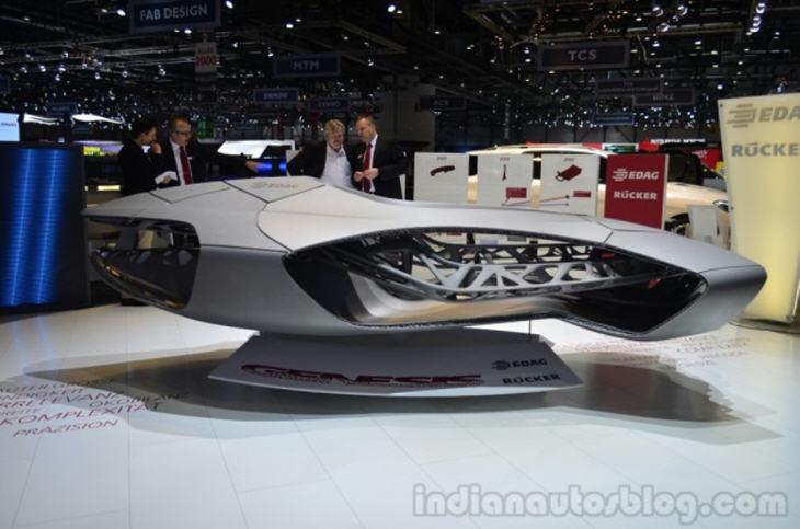 EDAG Genesis 3D Printed Car at 2014 Geneva Motor Show. Source: http://www.3ders.org/