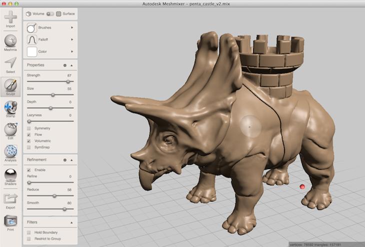 Autodesk Meshmixer screenshot. Source: Autodesk