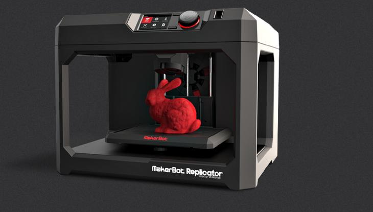 MakerBot 5th Generation Replicator 3D Printer. Source: http://www.makerbot.com/2014-consumer-electronics-show-ces/