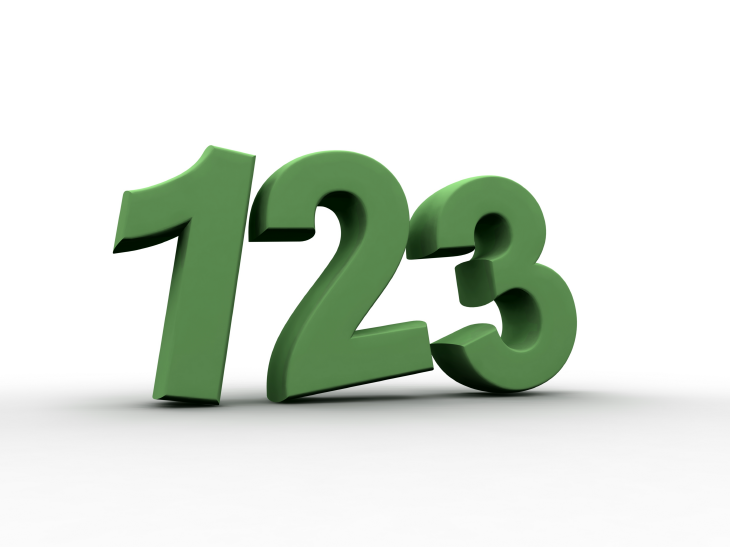 Numbers: 123. Source: pling/Shutterstock.com