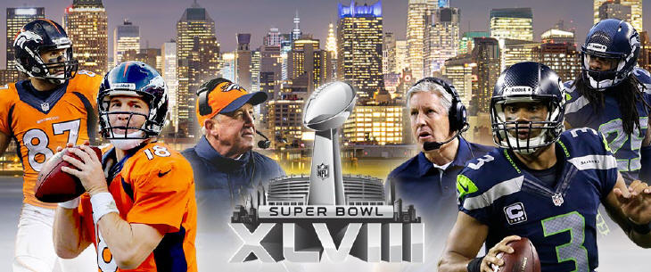 Super Bowl Broncos vs. Seahawks. Source: NFL