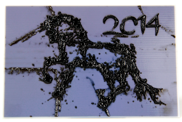 3D printed Chinese New Year, Year of the Horse plaque. Source: WhiteClouds