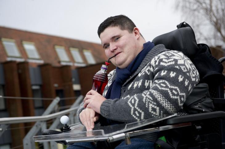 Ollie Baskeran, a twenty-one year old student from Leatherhead in Surrey. Source: Hereward College