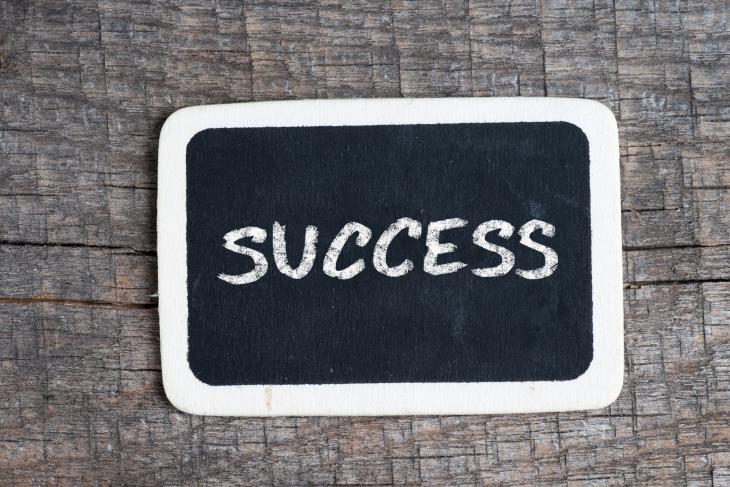 Success written on a chalkboard. Source:  Roobcio/Shuttterstock.com