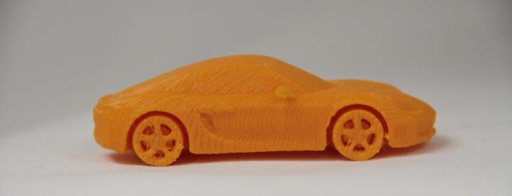 3D printed Porsche. Source: WhiteClouds