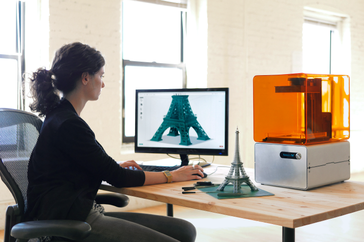 Using the Form 1 3D printer by Formlabs. Source: Formlabs
