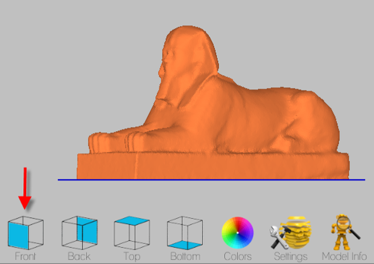Screenshot of Cubify's Client software editing an object to be 3D printed. Source: WhiteClouds