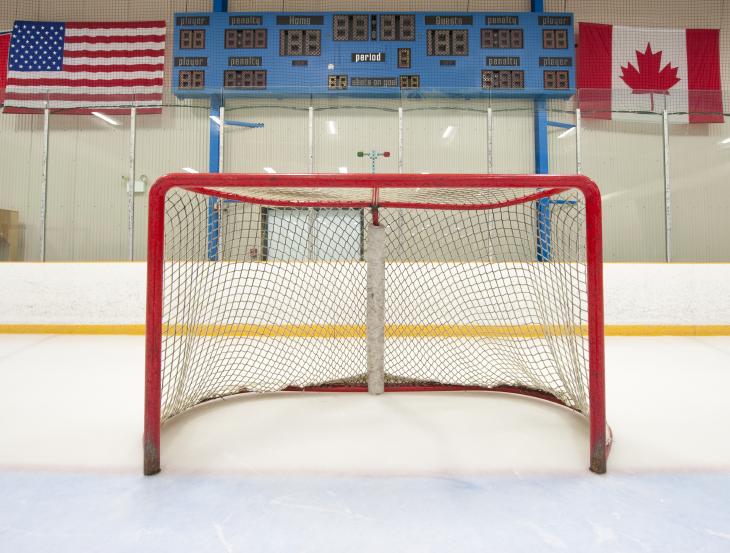Hockey goal. Source: Michael Pettigrew/Shutterstock.com