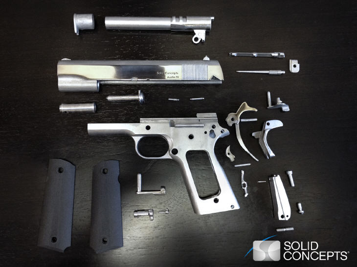 Components of 3D printed gun. Source: Solid Concepts