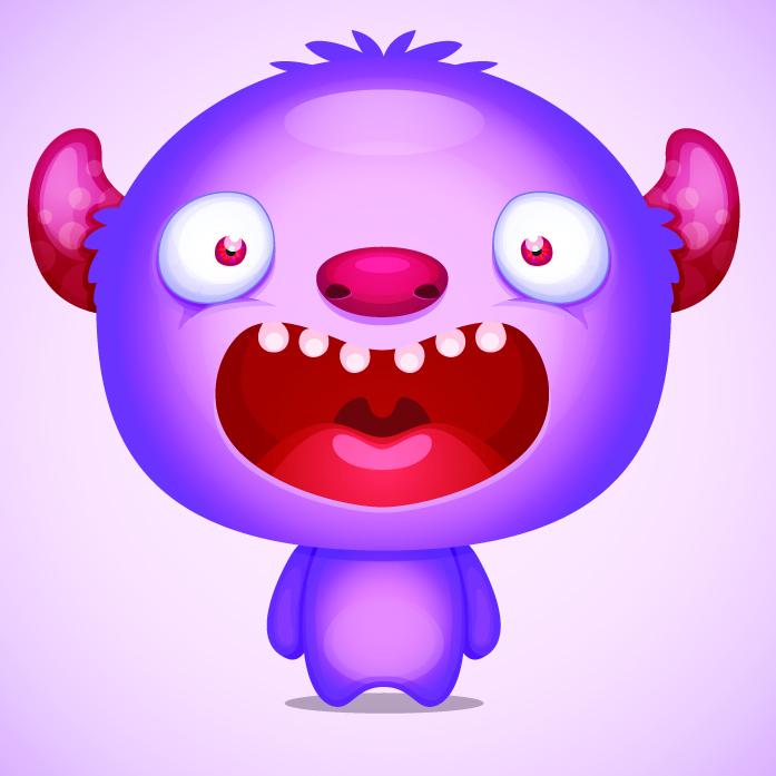 Shouting purple monster. Source: Shutterstock.com